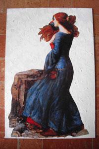 Pannello con sfumature colori a olio su fondo materico (L.Piazza)