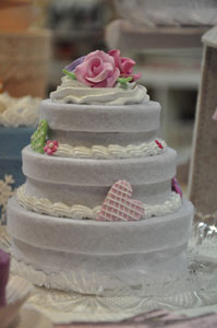 La wedding cake in feltro di Simona Girelli