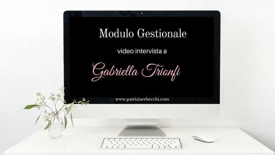 Videointervista a Gabriella Trionfi