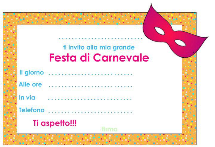 Estremamente Carnevale: Inviti pronti da stampare per la festa - Hobbydonna.it ZS56