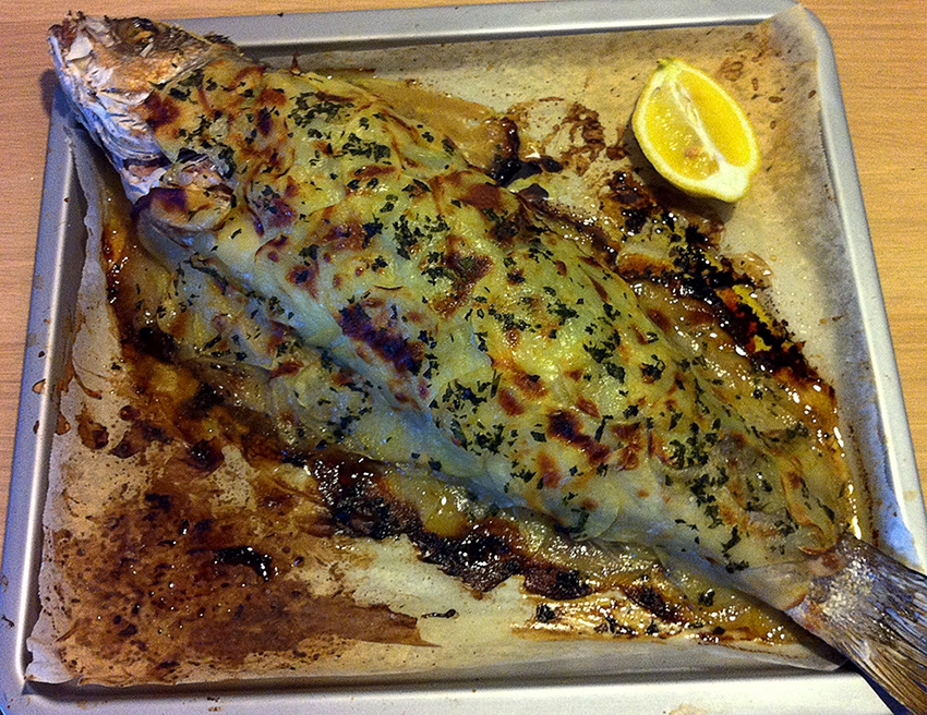 Branzino in crosta di patate