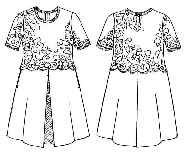 Conosciuto Come realizzare un vestito elegante, spiegazioni e cartamodello  HU49