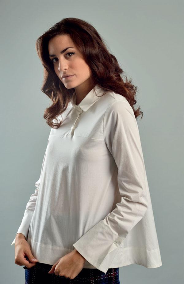 Donna Tutorial Con Davanti Camicia Pieghe OnPkw80