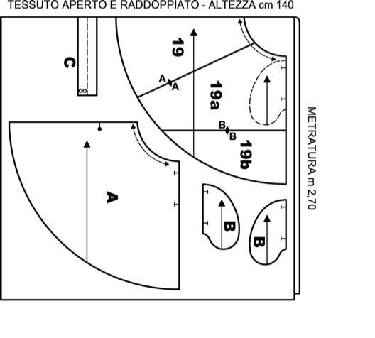 the best attitude b5c81 d5c3e Spiegazioni e cartamodello Gonna a ruota con tasche laterali ...