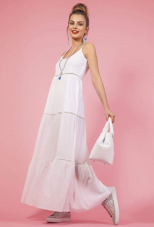 quality design 8619c 16afd Spiegazioni e cartamodello per cucire un abito lungo estivo ...