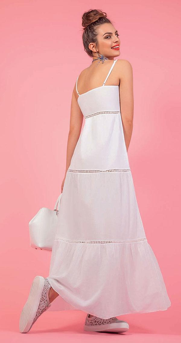 quality design eab21 82ff9 Spiegazioni e cartamodello per cucire un abito lungo estivo ...