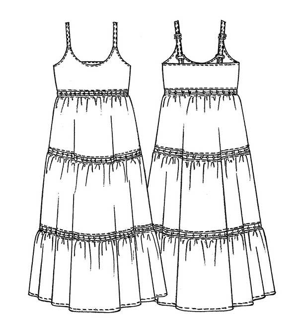 03c57d461ed8 Spiegazioni e cartamodello per cucire un abito lungo estivo donna ...
