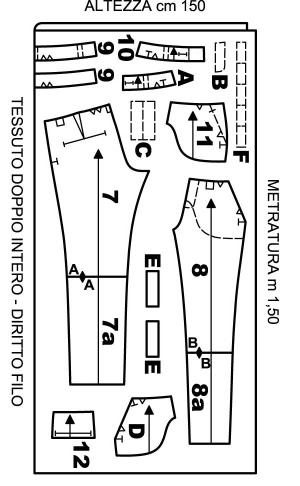Super Tailleur Pantaloni - Cartamodello seconda parte: i pantaloni  ZR07