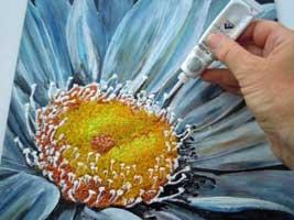 Quadro con tecnica pittura su vetro (M. Turra) - Hobbydonna.it