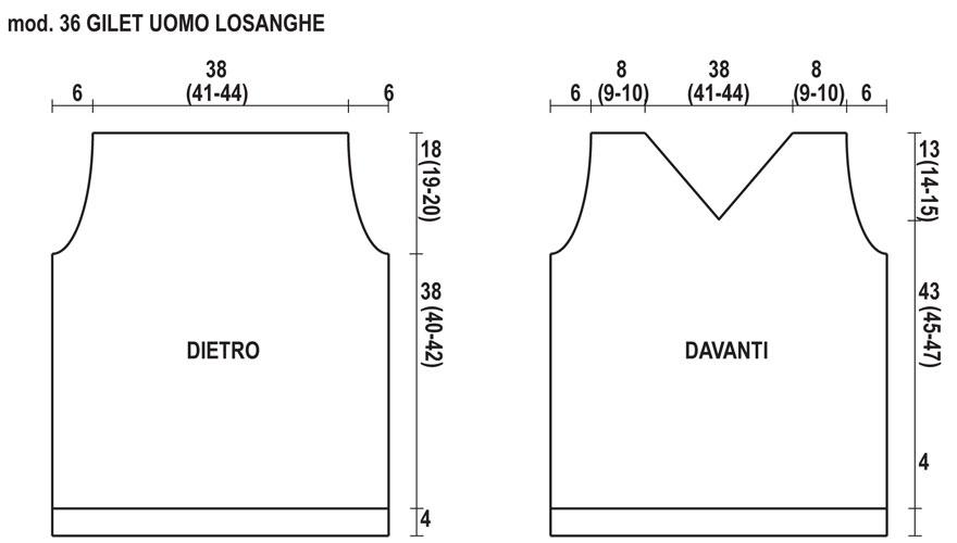 Come realizzare un gilet per uomo in maglia a losanghe - Hobbydonna.it 2585db9d70b0