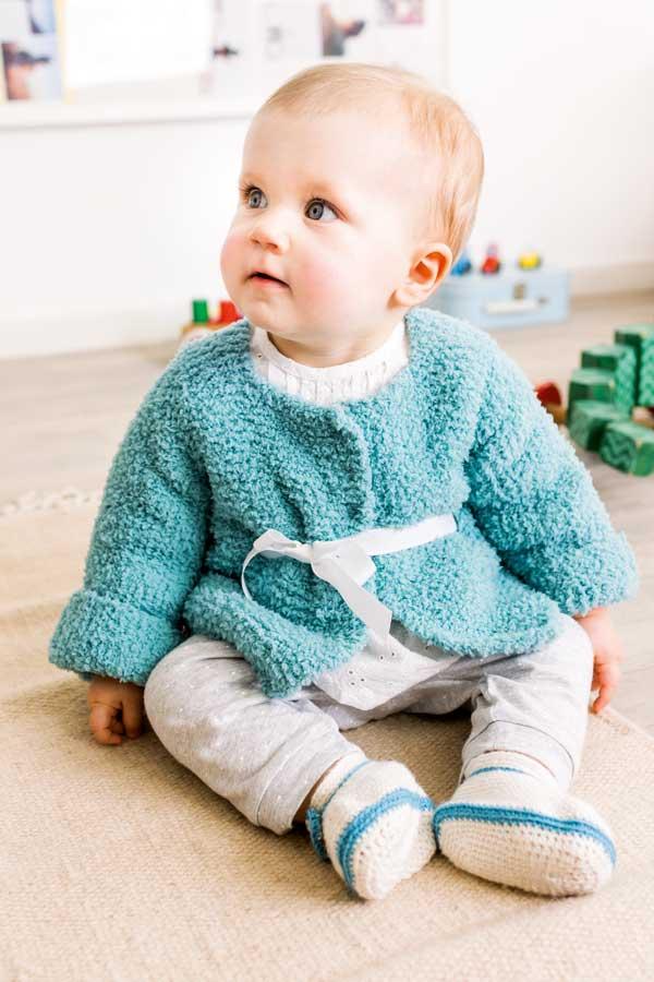 Giacchina A Maglia E Scarpine Alluncinetto Baby Taglia 6 18 Mesi