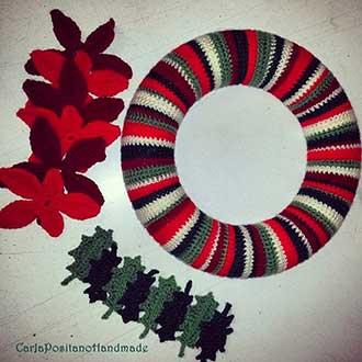 Natale Ghirlanda Alluncinetto C Positano Hobbydonnait