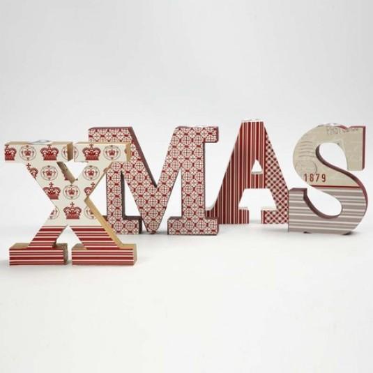 come realizzare la scritta xmas con le lettere in legno ed