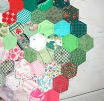 Tecnica patchwork all'inglese