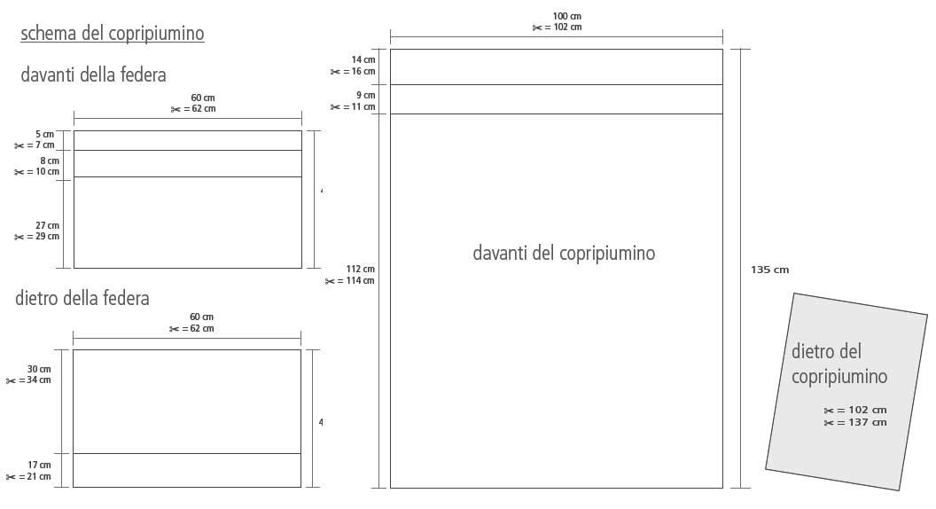 Tutorial Copripiumino.Completo Copripiumino Per Lettino Ricamato Mez Cucirini