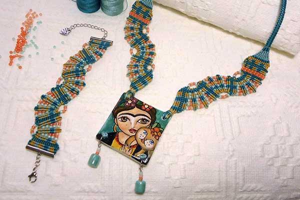 Macramè Tutorial Per Realizzare La Collana E Braccialetto Frida