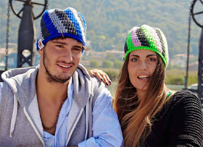 Cappello all'uncinetto unisex vortex