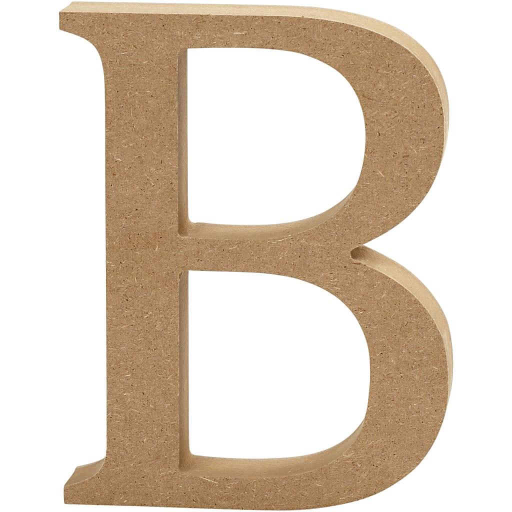 lettere in legno mdf : Lettere e numeri in legno MDF : Lettera in legno MDF 13h B
