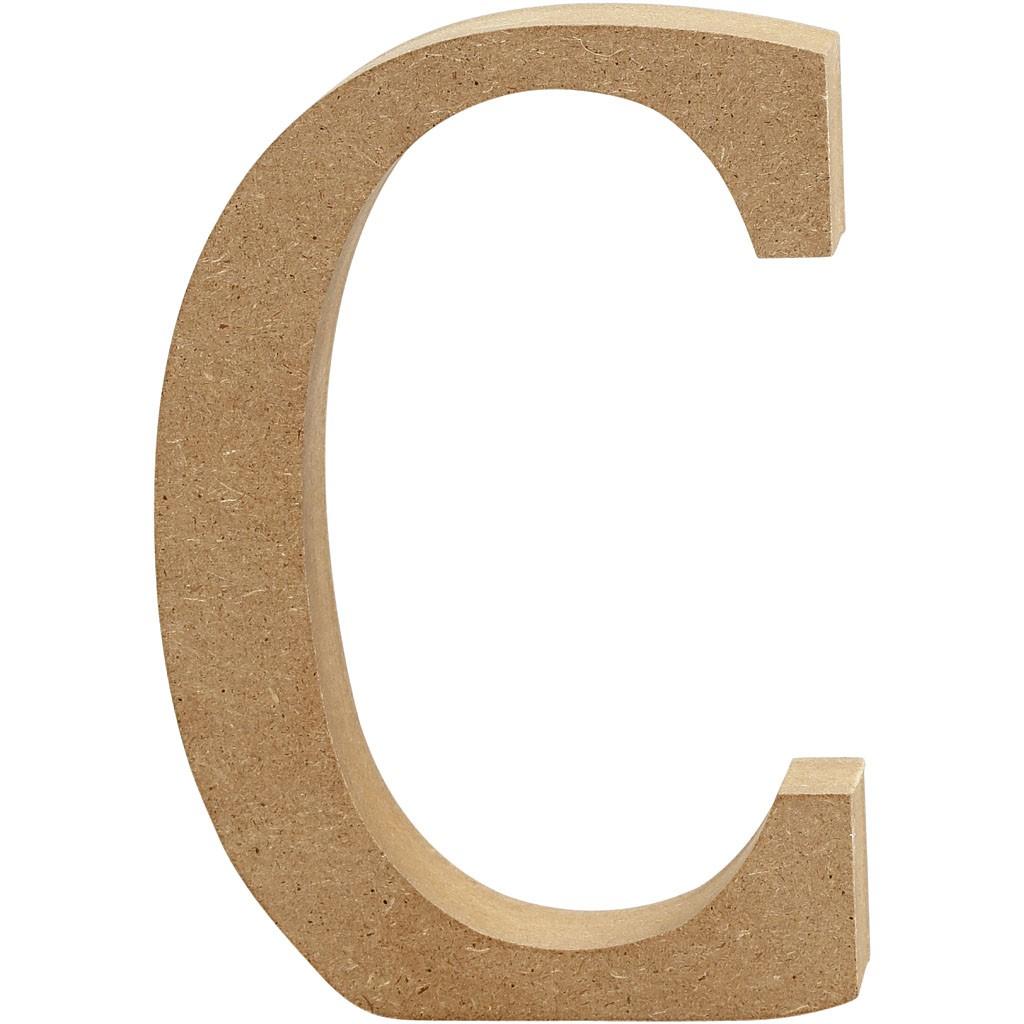 lettere in legno mdf : Lettere e numeri in legno MDF : Lettera in legno MDF 13h C