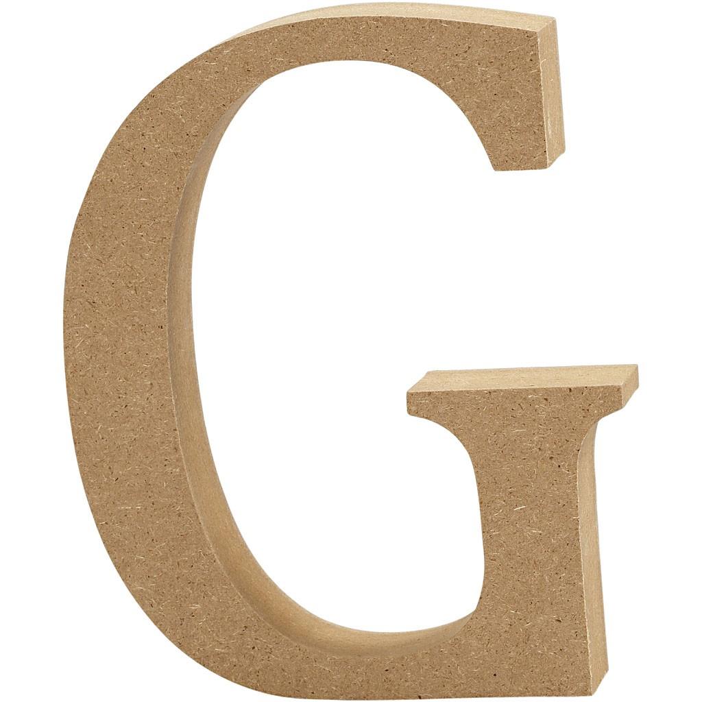 lettere in legno mdf : Lettere e numeri in legno MDF : Lettera in legno MDF 13h G