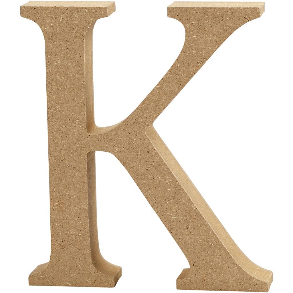 lettere in legno mdf : Lettere e numeri in legno MDF : Lettera in legno MDF 13h K