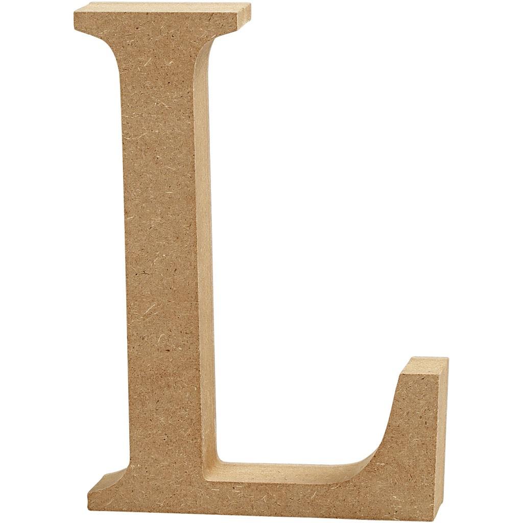 lettere in legno mdf : Lettere e numeri in legno MDF : Lettera in legno MDF 13h L