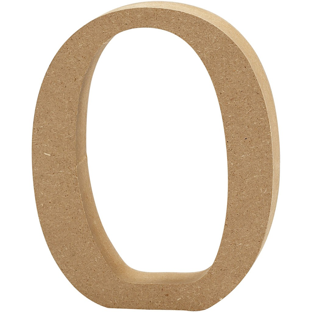 lettere in legno mdf : Lettere e numeri in legno MDF : Lettera in legno MDF 13h O
