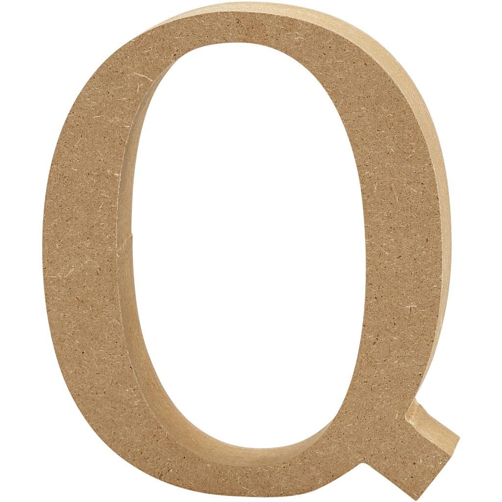 lettere in legno mdf : Lettere e numeri in legno MDF : Lettera in legno MDF 13h Q