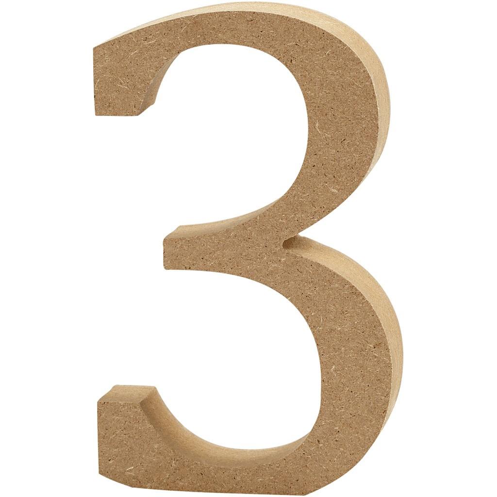 lettere in legno mdf : Lettere e numeri in legno MDF : Numero in legno MDF 13h 3