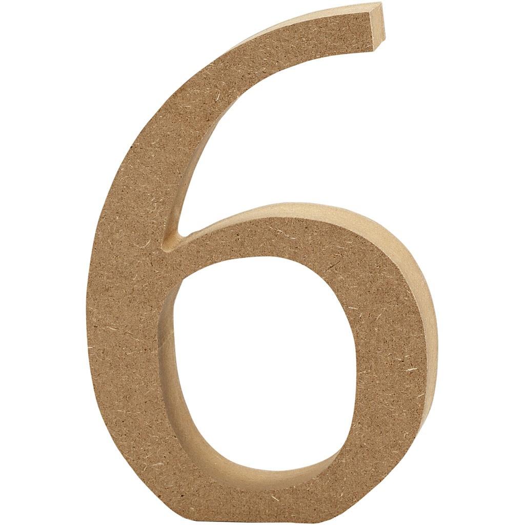 lettere in legno mdf : Lettere e numeri in legno MDF : Numero in legno MDF 13h 6