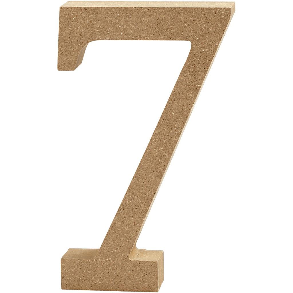 lettere in legno mdf : Lettere e numeri in legno MDF : Numero in legno MDF 13h 7