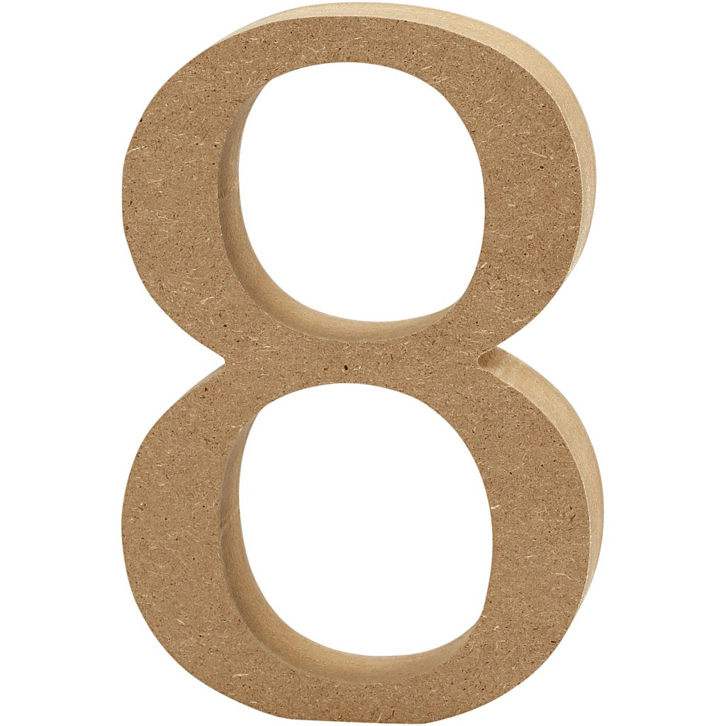 lettere in legno mdf : Lettere e numeri in legno MDF : Numero in legno MDF 13h 8