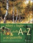 Alberi e foglie ad acquarello dalla A alla Z