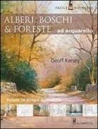 Alberi, boschi e foreste ad acquarello